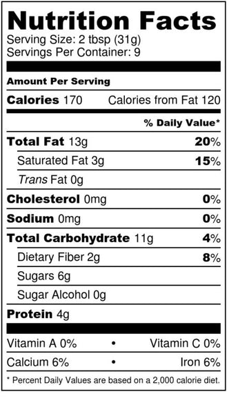 freshy flakes almond butter nutrition facts label