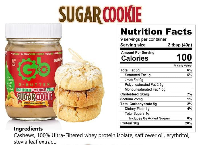 G Butter Sugar Cookie Nutrition Facts