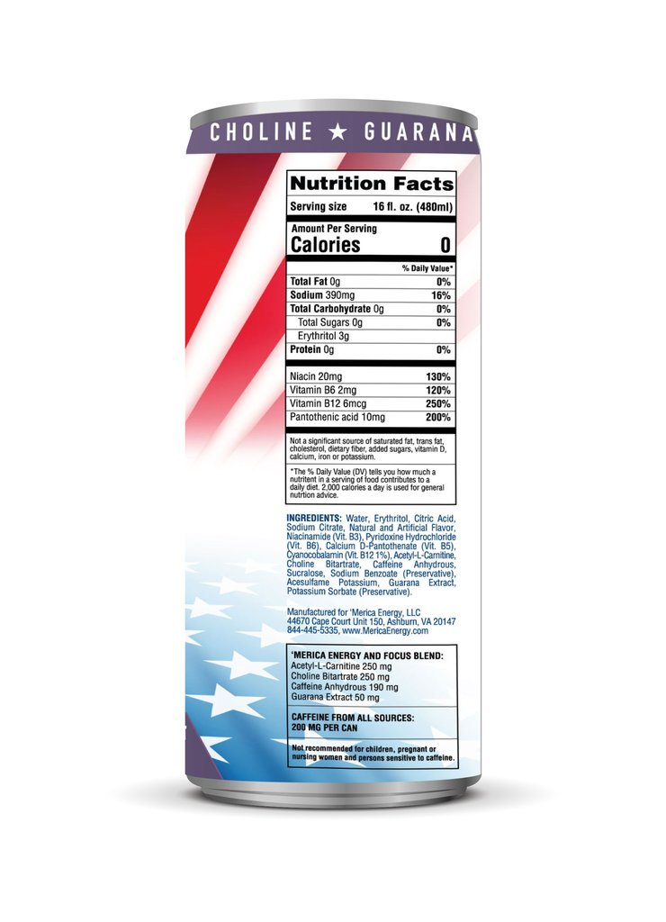 grape merica energy nutrition facts