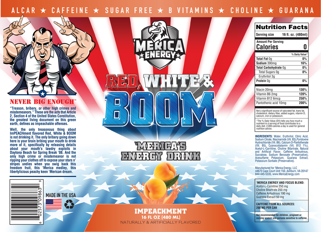 merica labs impeachment nutrition facts label