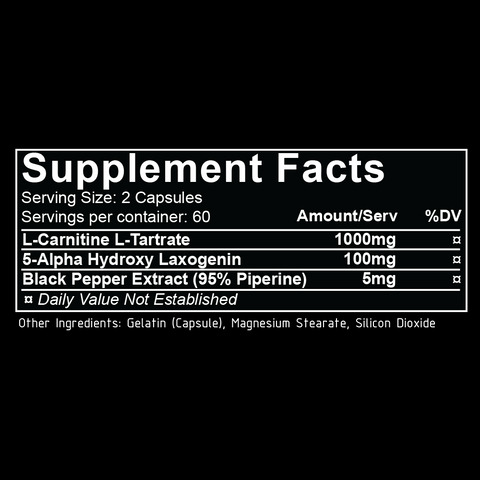 repp sports laxogenin supplement facts nutrition label