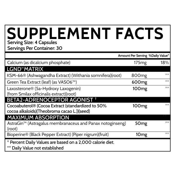 inspired nutra lgnd supplement facts label