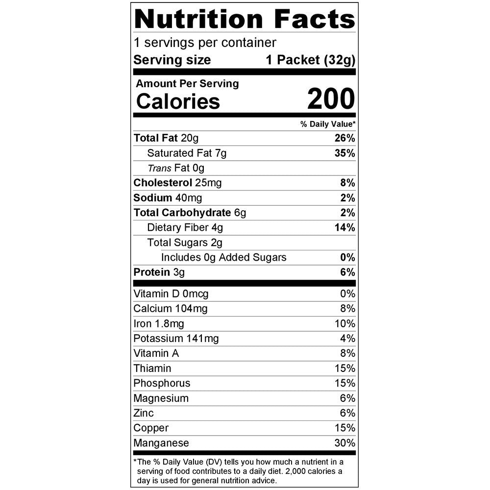 Phat Fudge Nutrition Facts Image