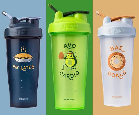 foodie shaker bottle with food puns gift fitness