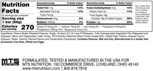 mts outright bar nutrition facts