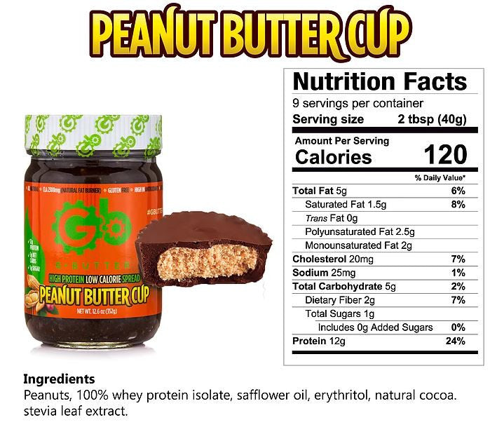 G Butter Peanut Butter Cup Nutrition Facts