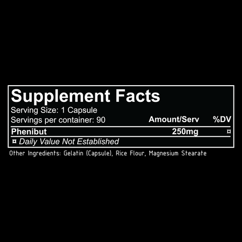 repp sports phenibut supplement facts label