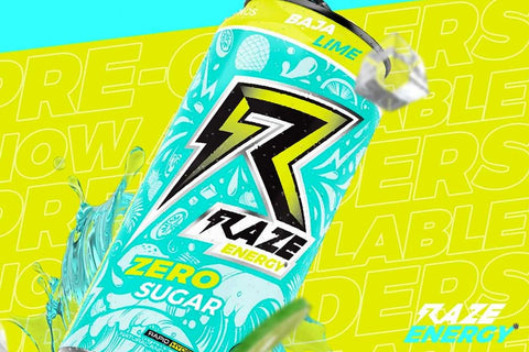 Repp Sports Raze Energy Drink Can New Baja Lime