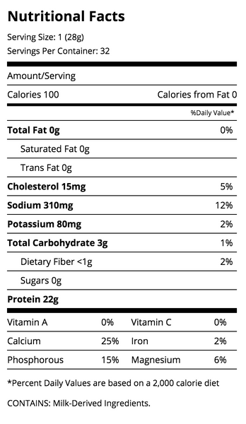 Quest Nutrition Salted Caramel Protein Nutrition Facts Label