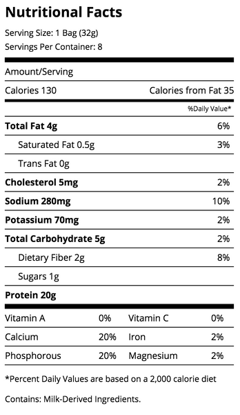 Quest Chips Sour Cream And Onion Nutrition Facts Label