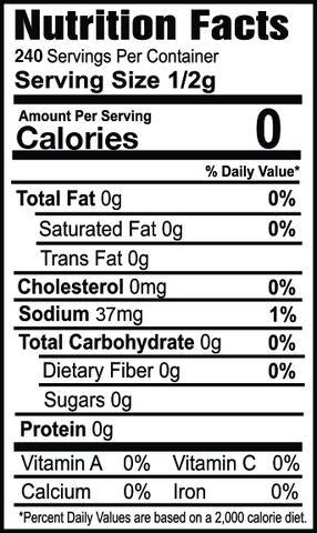 oh my spice zesty ranch flavor topper seasoning with protein nutrition label facts ingredients