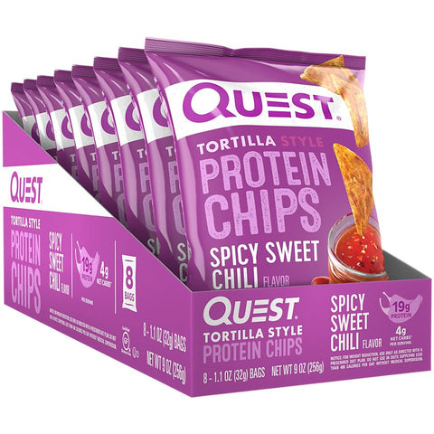 Quest Nutrition Spicy Sweet Chili Tortilla Style Protein Chips