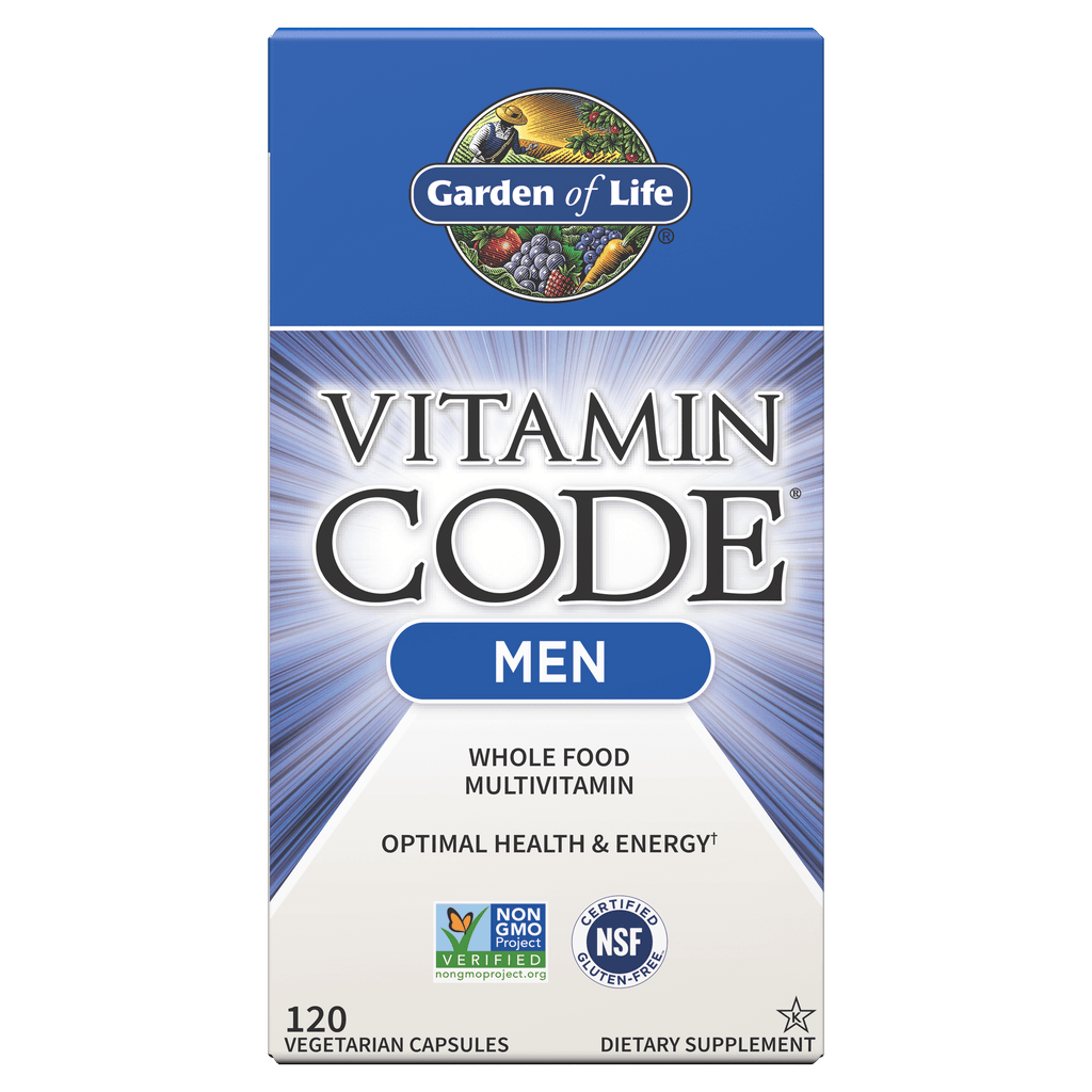 Garden Of Life Vitamin Code - Whole Food Vitamin For Men (Choose Size)