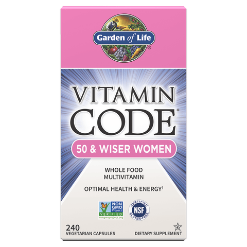 Garden Of Life Vitamin Code - Whole Food Vitamin For 50 & Wiser Women (Choose Size)