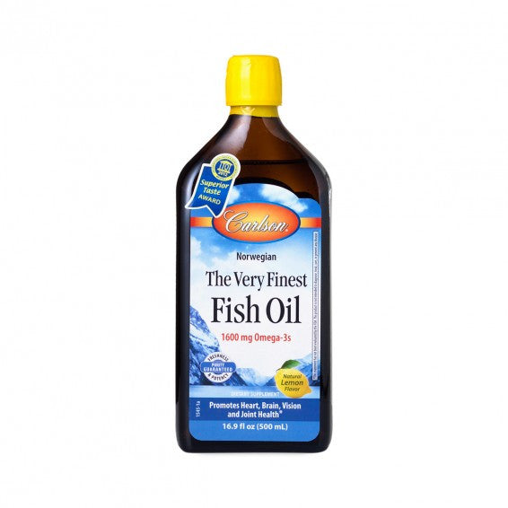 Carlson The Very Finest Fish Oil 500ml/200ml (Select Option)