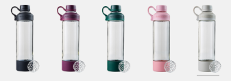 Blender Bottle Glass Mantra (Select Color)