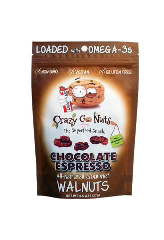 Crazy Go Nuts Chocolate Espresso Walnuts Bag