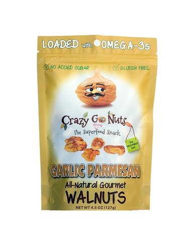 Crazy Go Nuts Garlic Parmesan Walnuts Bag