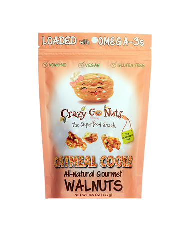 Crazy Go Nuts Oatmeal Cookie Walnuts Bag