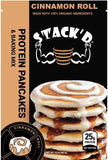 STACK'D Cinnamon Roll Protein Pancakes
