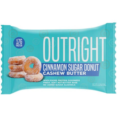 Outright Bar - Cinnamon Sugar Donut Cashew Butter Real Food Protein Bar