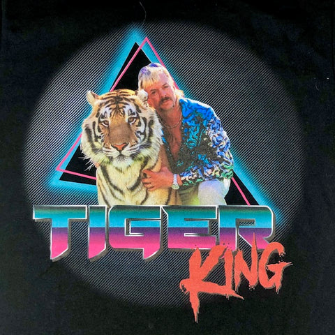 Tiger King Retro HB Black T-Shirt Unisex (Select Size)