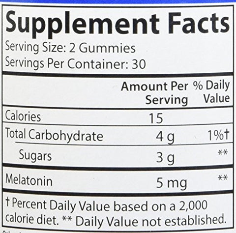 Carlson Labs Melatonin 2.5mg Gummies