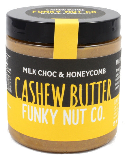 Funky Nut Co. Milk Chocolate and Honeycomb Cashew Butter