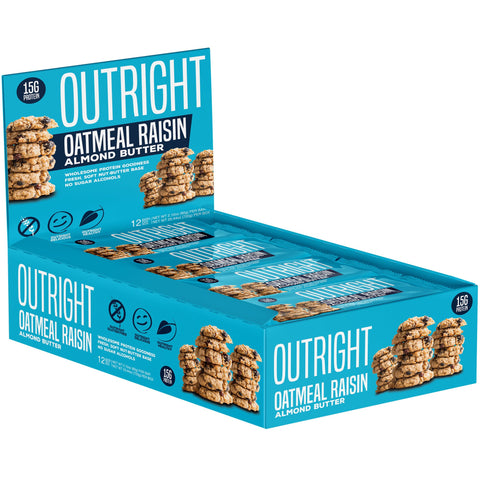 Outright Bar - Oatmeal Raisin Almond Butter Real Food Protein Bar