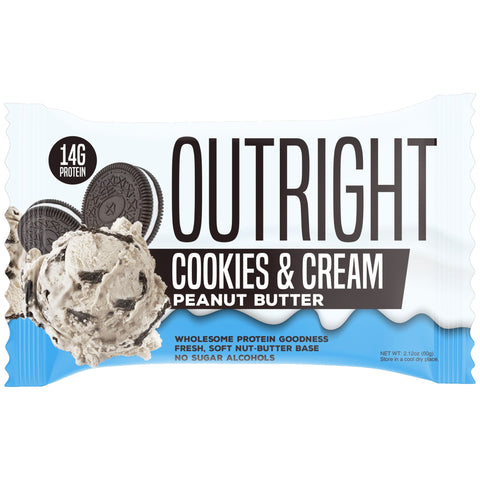 Outright Bar - Cookies & Cream Peanut Butter Real Food Protein Bar