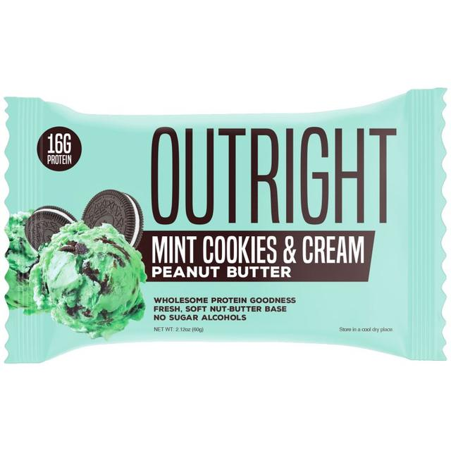 Outright Bar - Mint Cookies & Cream Peanut Butter Real Food Protein Bar