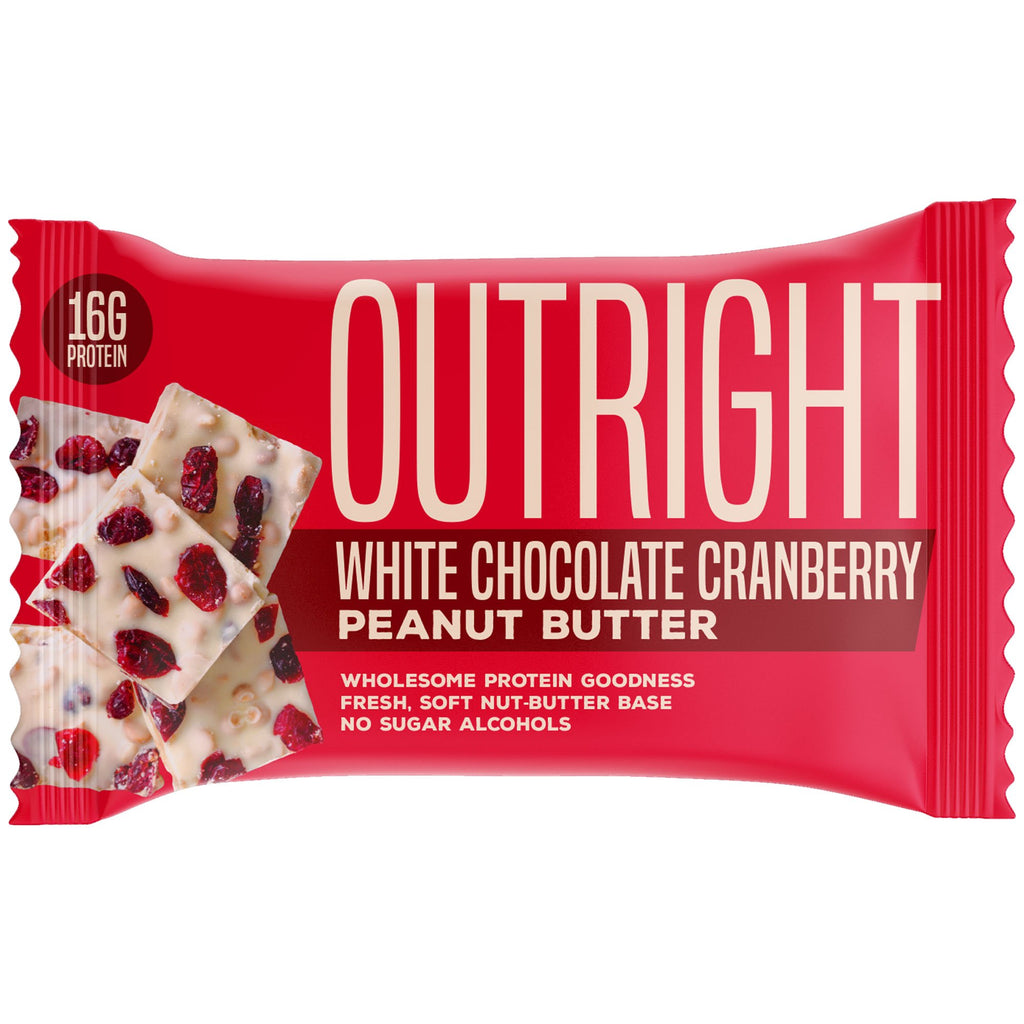 Outright Bar - White Chocolate Cranberry Peanut Butter Real Food Protein Bar