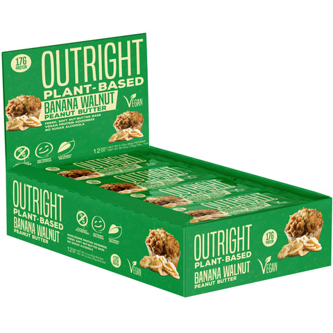 Outright Plant Based Bar - Banana Walnut Peanut Butter Real Food Protein Bar