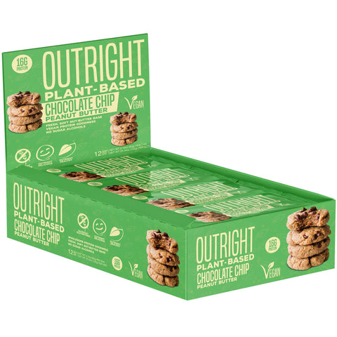 Outright Plant Based Bar - Chocolate Chip Peanut Butter Real Food Protein Bar