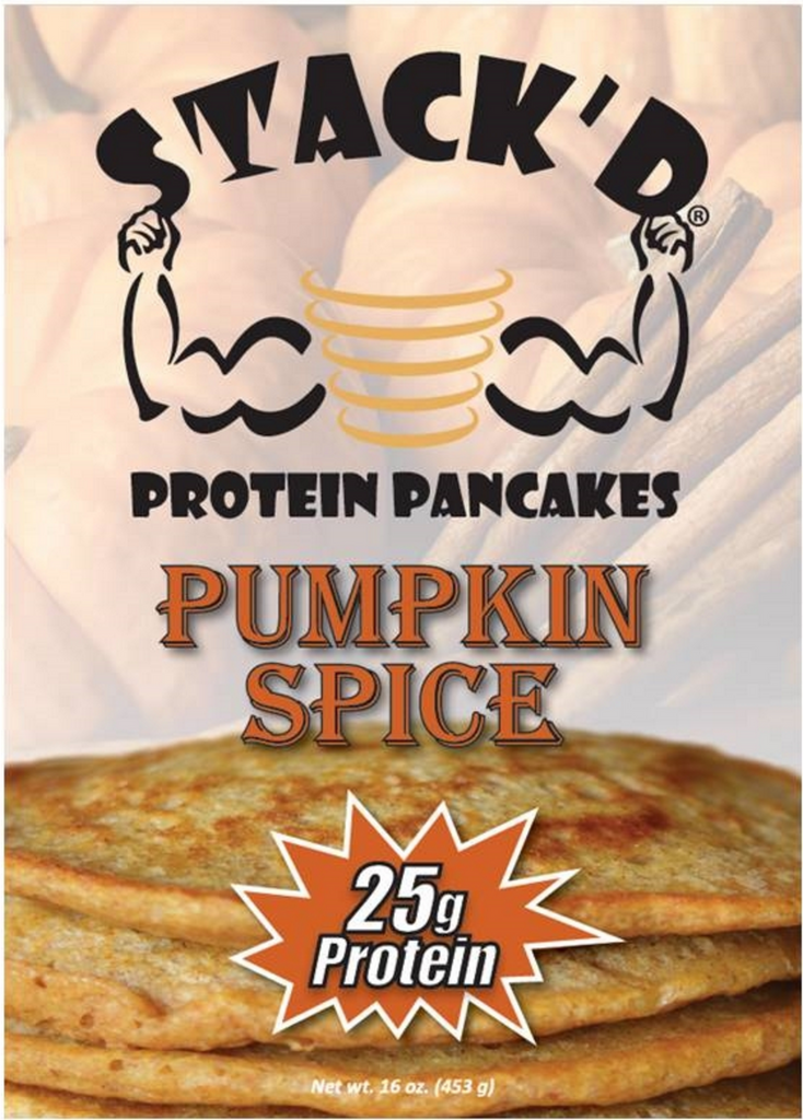STACK'D Pumpkin Spice Protein Pancakes