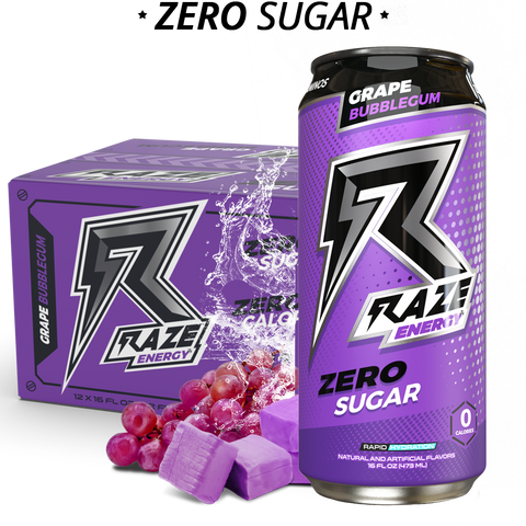 Repp Sports Raze Energy Drink RTD Grape Bubblegum