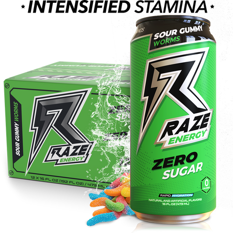 Repp Sports Raze Energy Drink RTD Sour Gummy Worms