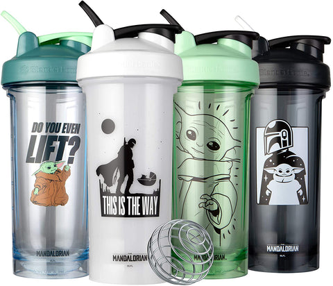 BlenderBottle 28oz Star Wars Mandalorian Series Shaker cup (Select Bottle)