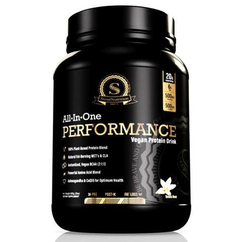 Stout All In One Vegan Performance Protein Vanilla Bean