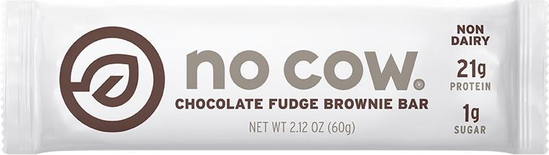 No Cow Chocolate Fudge Brownie Non Dairy Protein Bar