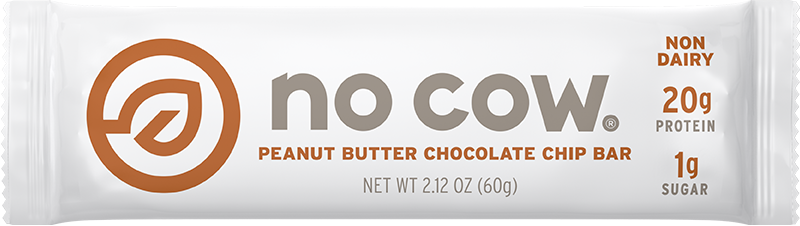 No Cow Peanut Butter Chocolate Chip Non Dairy Protein Bar