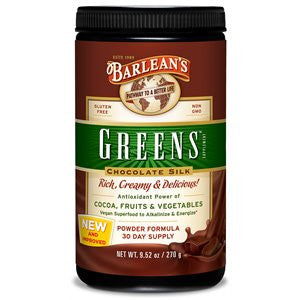 Barlean's Chocolate Silk Greens Powder