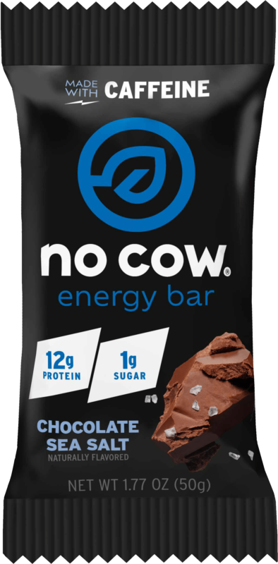 No Cow Energy Non Dairy Protein Bar Chocolate Sea Salt