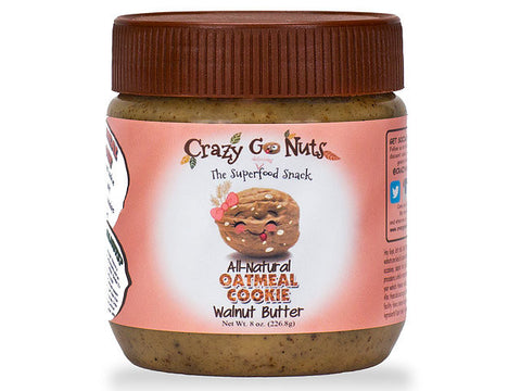 Crazy Go Nuts Oatmeal Cookie Walnut Spread