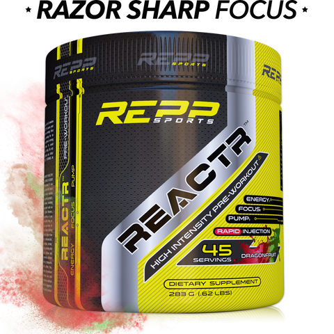 REPP Sports ReactR Pre-Workout (Select Flavor) 45srv