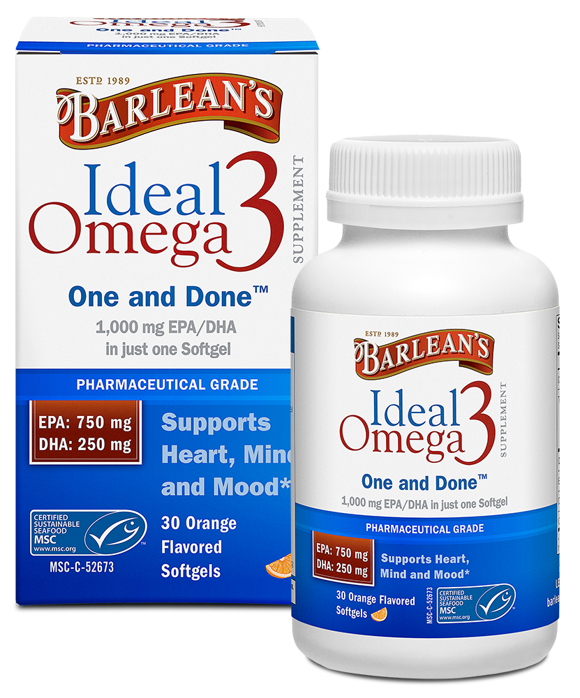 Ideal Omega3 Fish Oil Softgels, Orange Flavor (30ct/60ct)