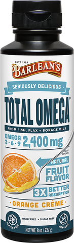 Barlean's Seriously Delicious Total Omega Orange Creme (8oz-16oz)