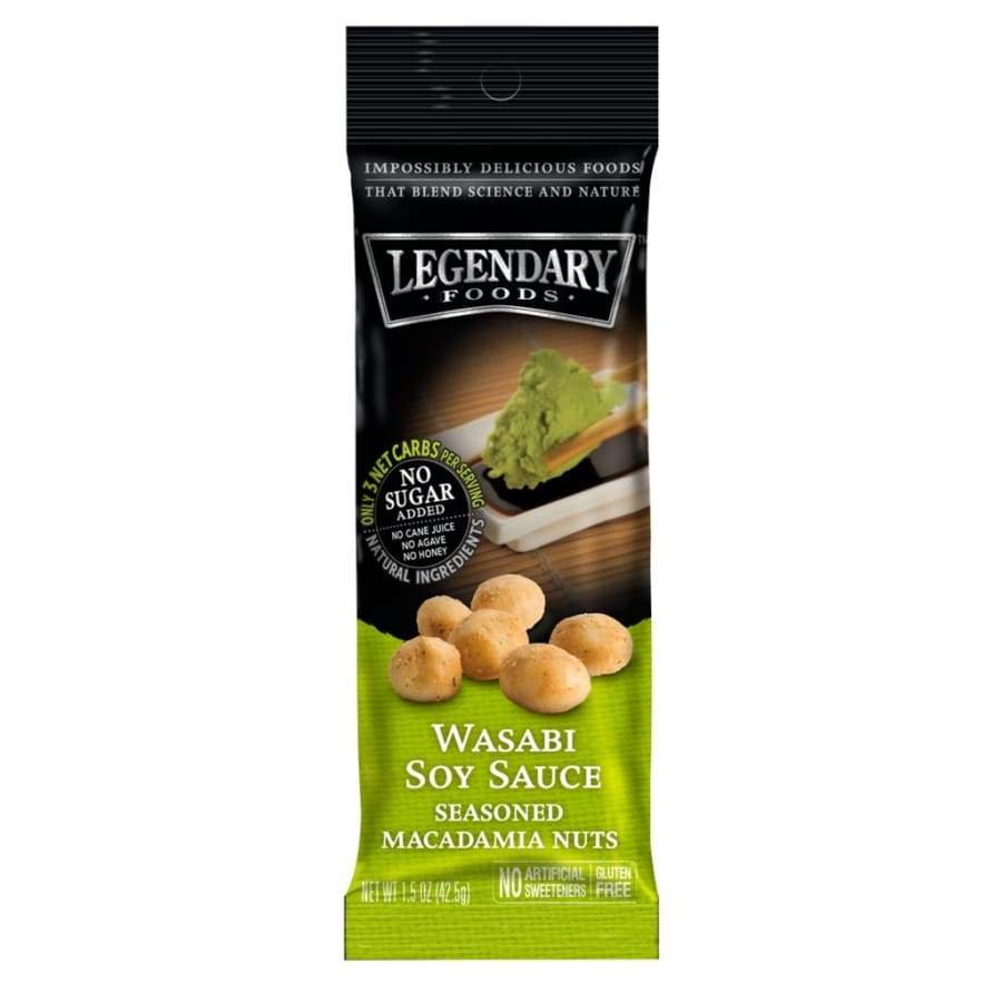 Legendary Foods Wasabi Soy Sauce Seasoned Macadamia Nuts 1.5oz Bag