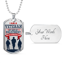 I Am A Veteran - Dog Tag