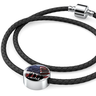 USA Veterans Day 'Lest We Forget' - Real Leather